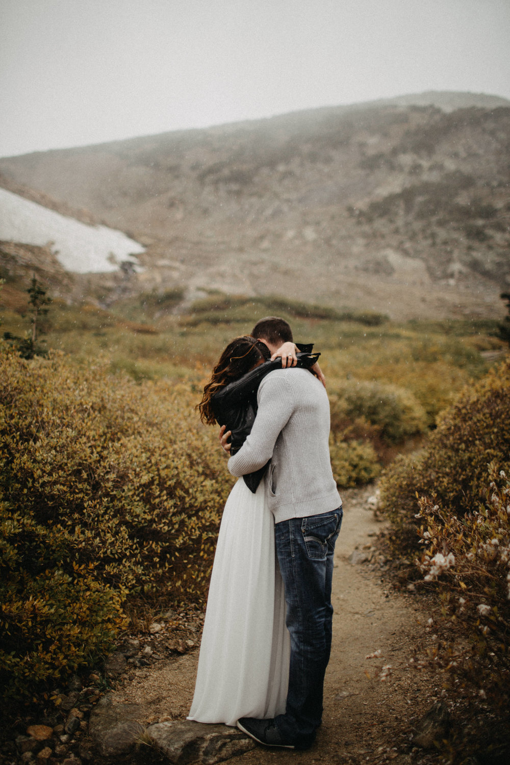 Authentic, Adventurous Engagement Photography in Saint Mary's Glacier, Colorado