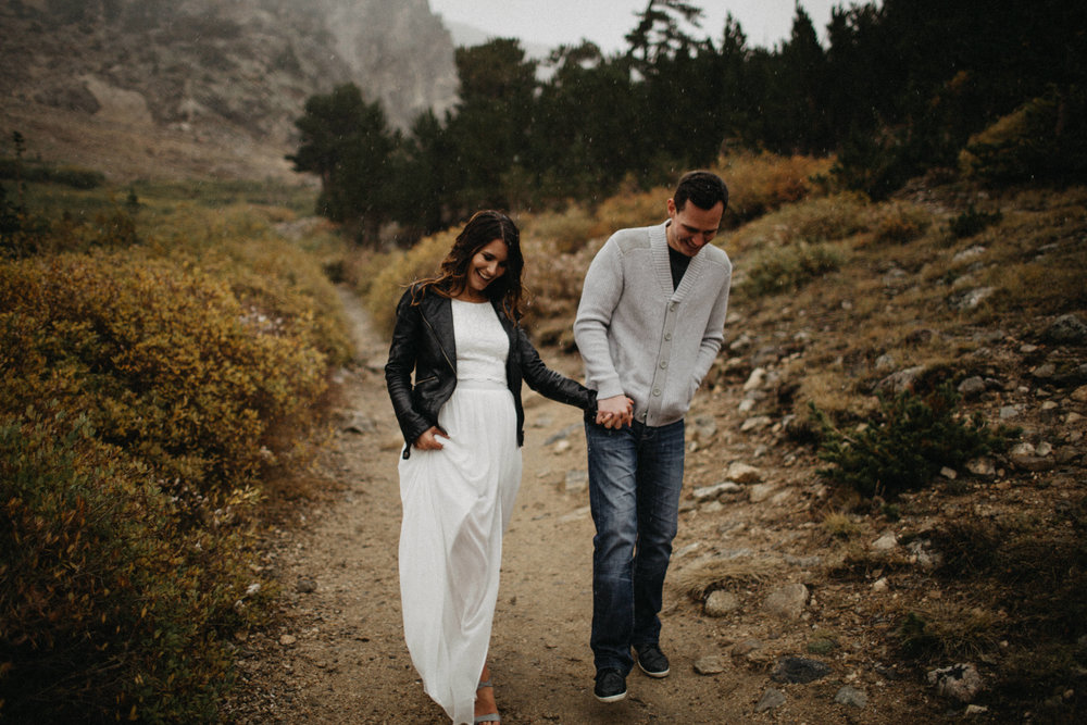 Edgy Destination Wedding Photography in Saint Mary's Glacier, Colorado