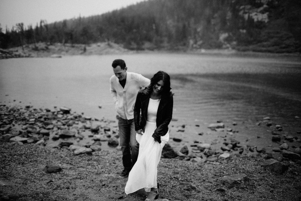 Colorado Engagement Photography in Saint Mary's Glacier