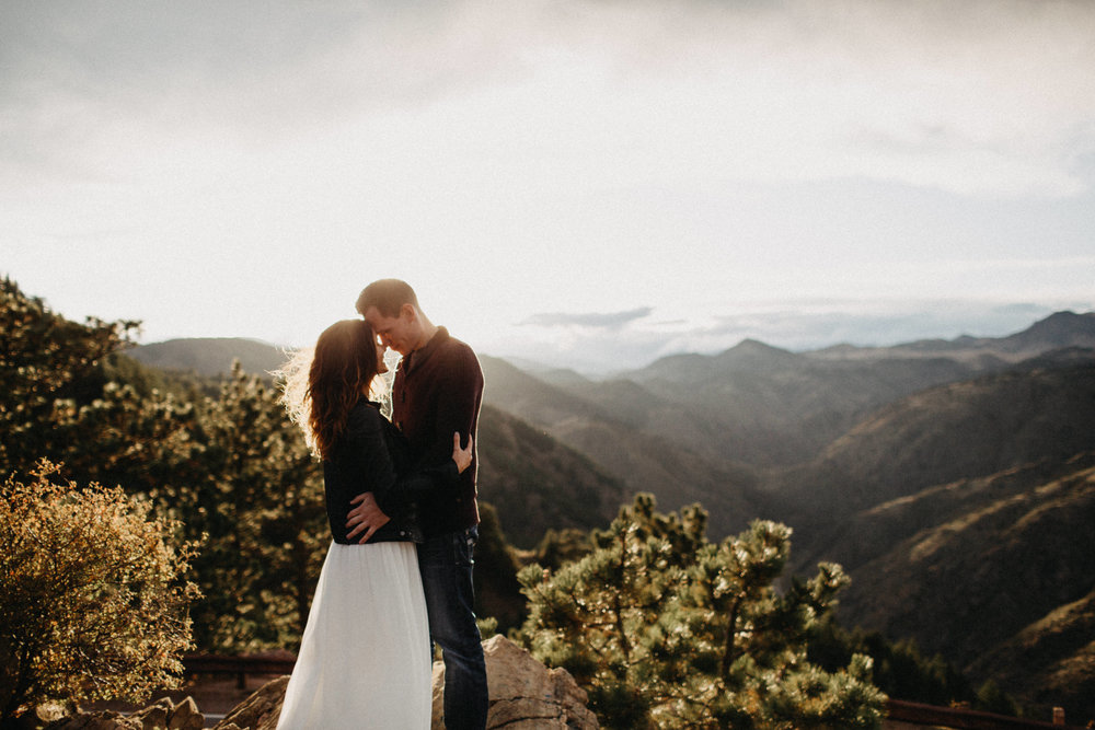 Engagement Photography at Lookout Mountain, Colorado