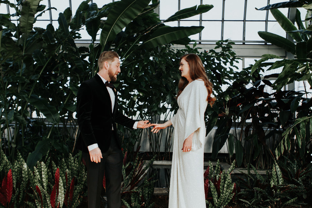 Garfield Park Conservatory intimate wedding photographer