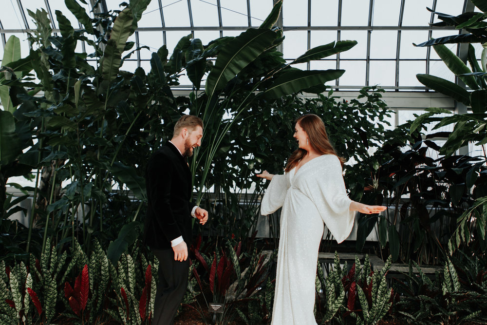 edgy boho wedding photography-Garfield Park Conservatory chicago