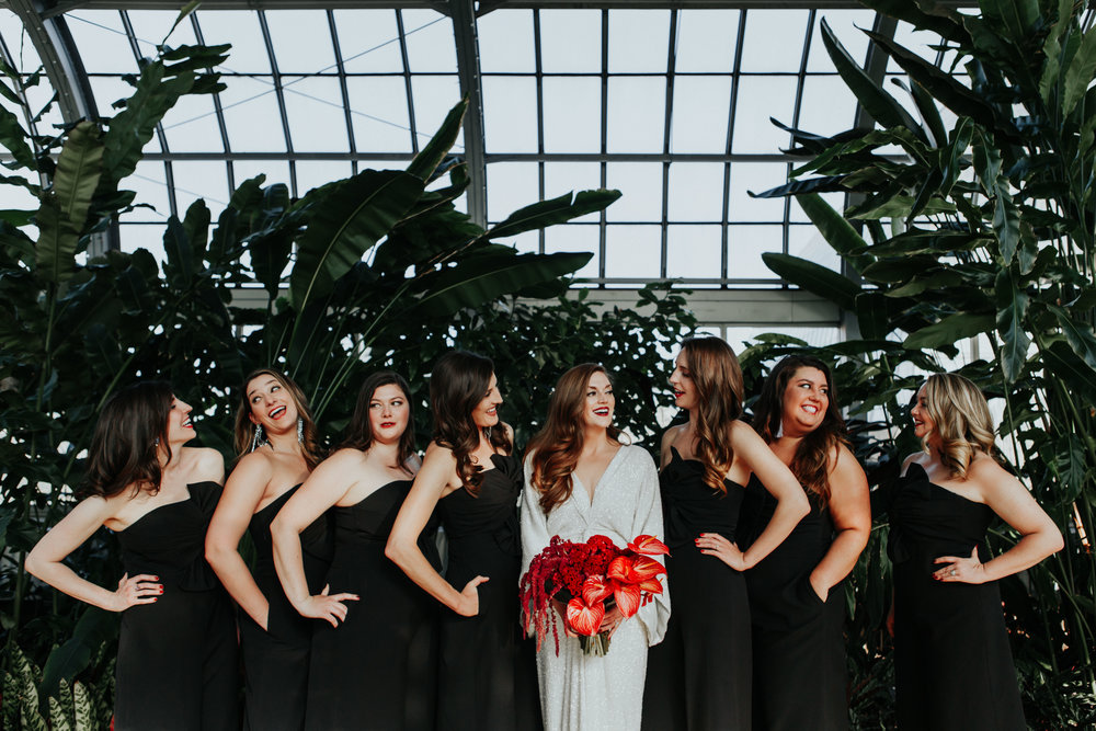 wedding photography Garfield Park Conservatory chicago illinois