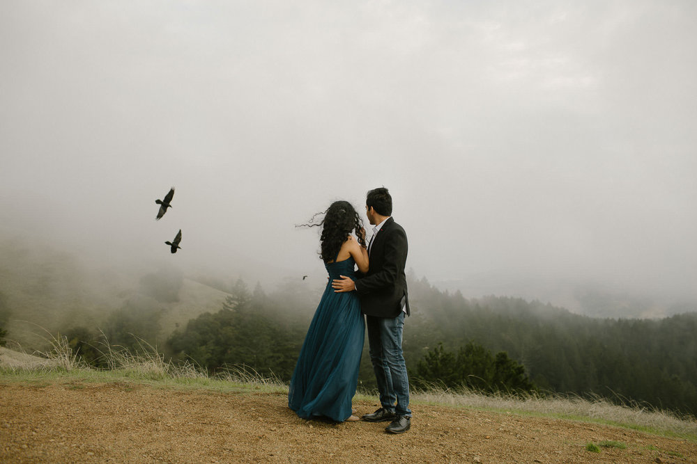 Juilee & Rishab - Mount Tamalpais & Point Reyes Engagement Session