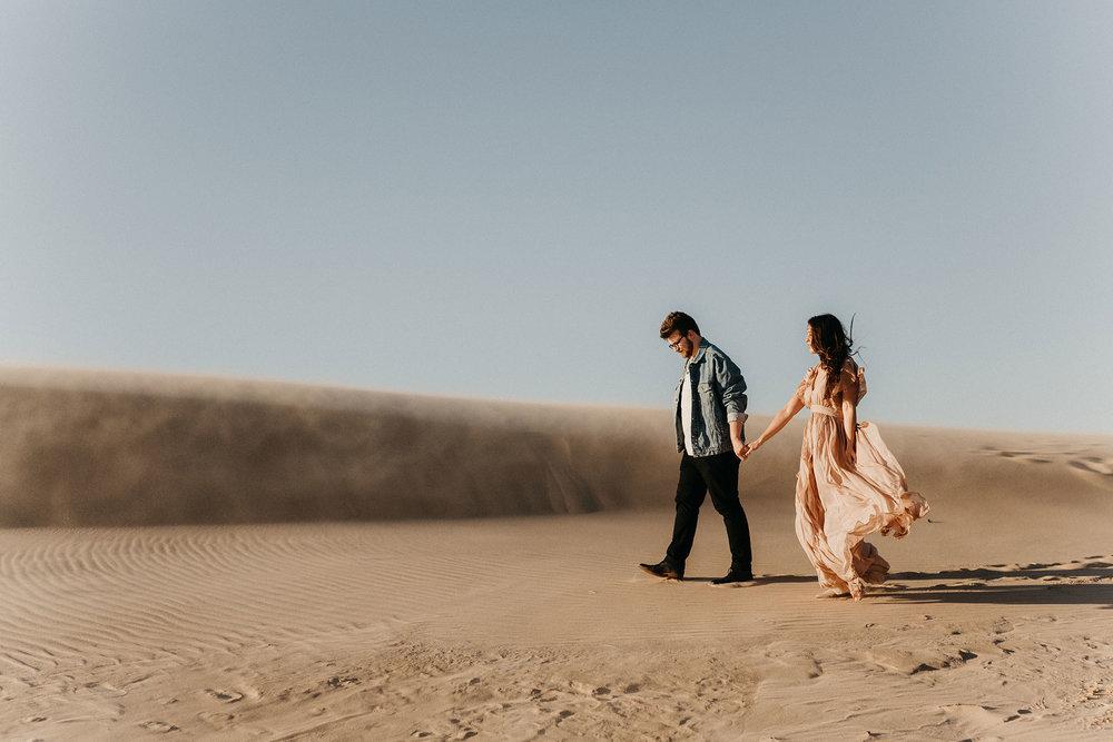 Sierra & Gentry - Desert Inspired Engagement Session at Silver Lake Dunes
