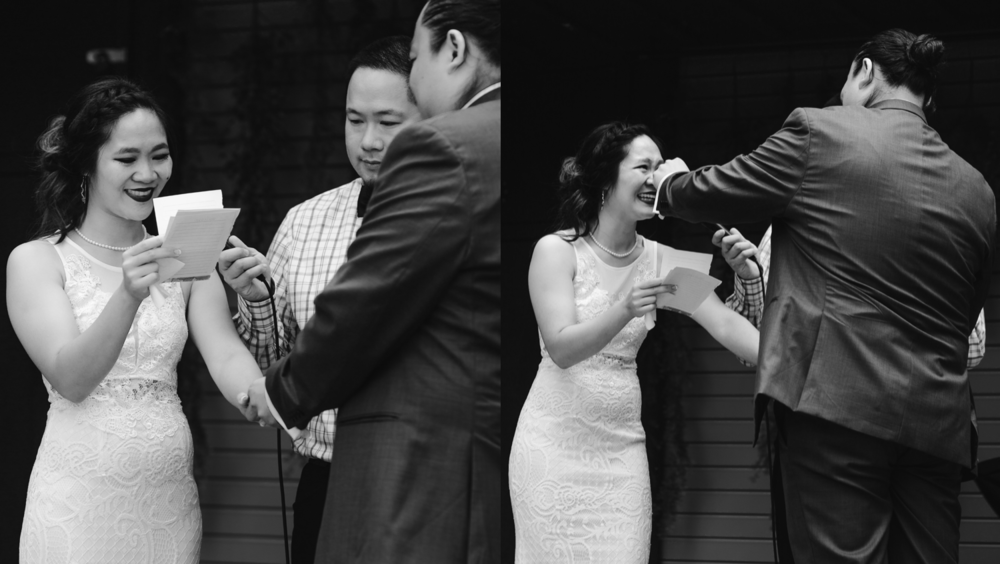 Emotional ceremony tears of a bride intimate wedding photographer.png
