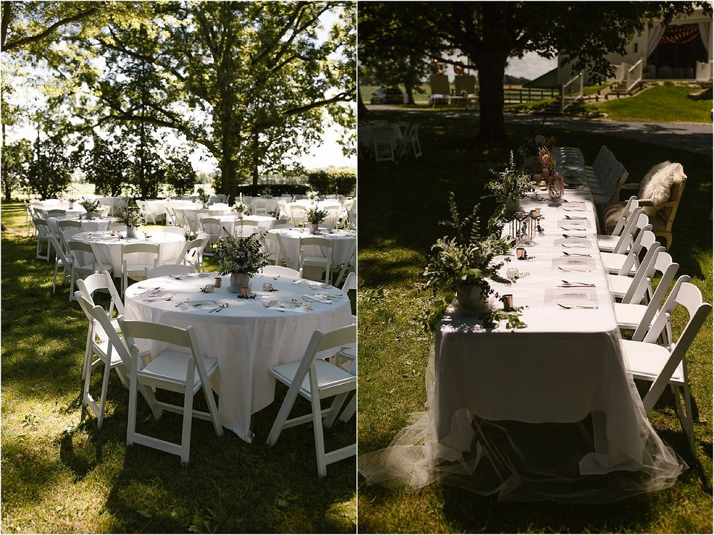 outdoor bohemian wedding reception at scarlet oakes estate in findlay ohio.jpg