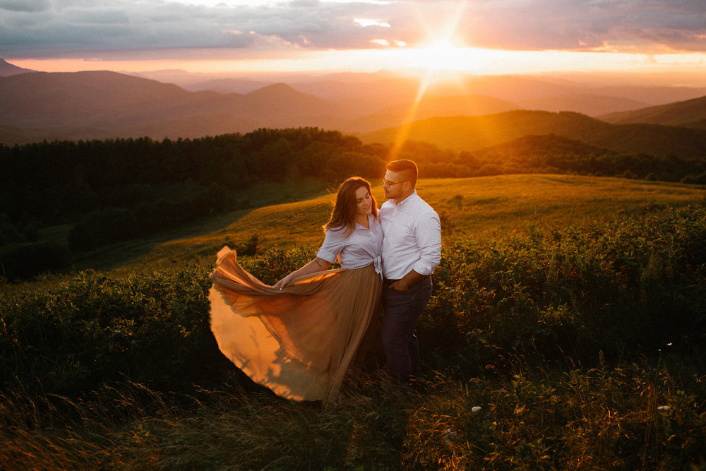 Adventure session on Max Patch Mountain in North Carolina -