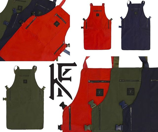 The NON POROUS apron! Click the photo to purchase or link in bio! #knifeandflag #survivalunion #workwear #barber #chef #stylist