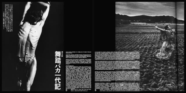 ADAM BROINOWSKI'S ESSAY ON TATSUMI HIJIKATA LAYOUT FROM SOME/THINGS MAGAZINE ISSUE001