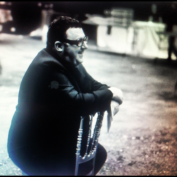 FILM STILL OF ALBER ELBAZ FROM LANVIN FALL WINTER 2012/2013 FEMME REHEARSAL AS SEEN BY SOME/THINGS, FILMED AND EDITED BY NAT URAZMETOVA, IN COLLABORATION WITH ETIENNE RUSSO & VILLA EUGENIE