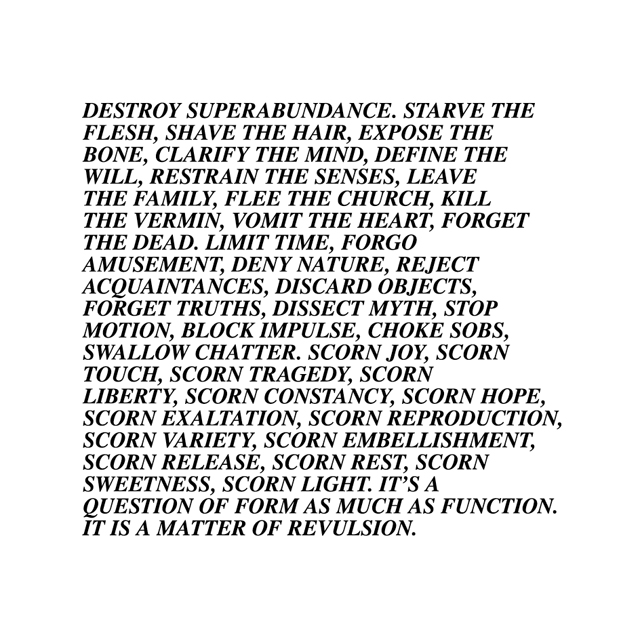 SELECTION FROM INFLAMMATORY ESSAYS BY JENNY HOLZER IN SOME/THINGS MAGAZINE CHAPTER004