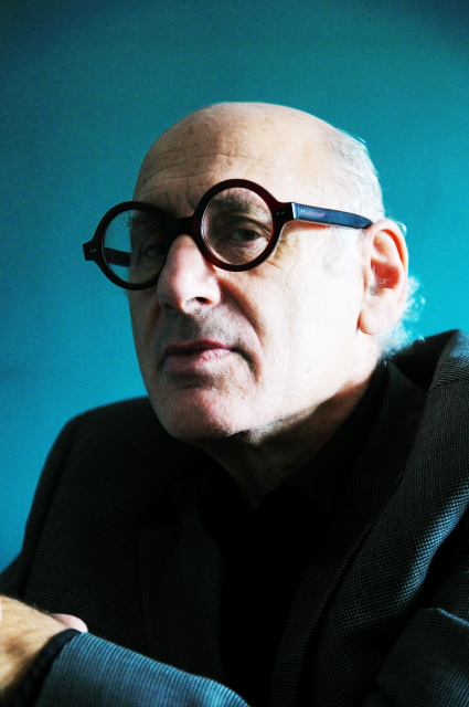 MICHAEL NYMAN PORTRAIT PHOTOGRAPHED BY MONIKA BIELSKYTE AT HIS HOME AND STUDIO IN ISLINGTON, LONDON