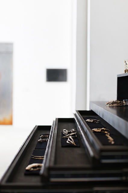 DISPLAY DRAWERS AT SOME/THINGS SECRET, WITH JEWELLERY FROM THE ADAL III COLLECTION BY NORA RENAUD