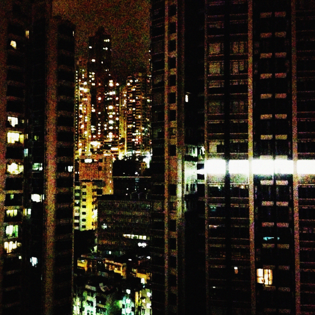 rooftop and skyline in SHEUNG WAN, HONG KONG
