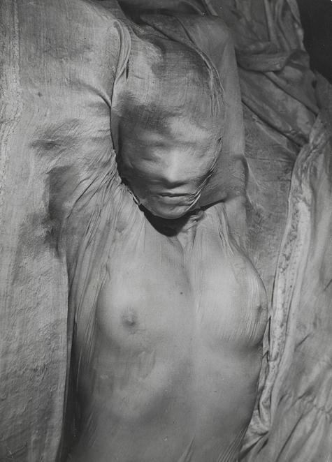 erwin blumenfeld, nude under wet veil, paris, 1937. gelatin silver print, vintage print, switzerland, private collection © the estate of erwin blumenfeld