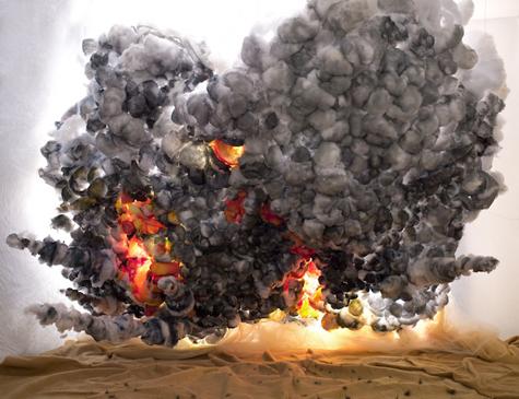 shirley wegner, desert explosion, 2013, 100x135 cm. courtesy shirley wegner and farideh cadot gallery