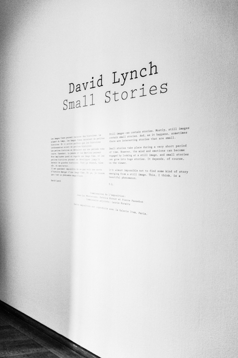 david lynch small stories exhibition at maison europeenne de la photographie paris by dario ruggiero | SOME/THINGS S/TUDIO