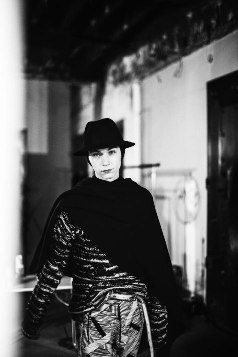 yuri pleskun atboris bidjan saberi fall/winter 2014 structurism backstage photography by matteo carcelli | S/TUDIO