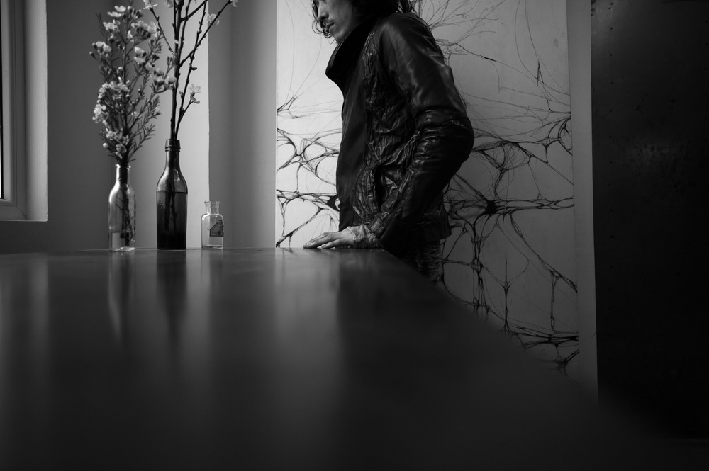 issei during lumen et umbra showroom at S/T by laurent segretier