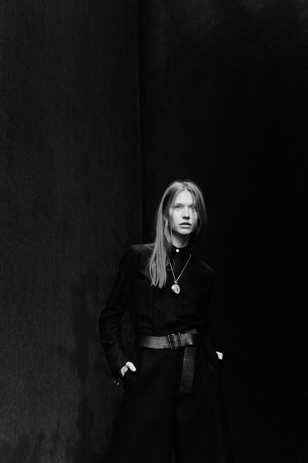 shirt acne studios belt yohji yamamoto trousers acne studios necklace watch fob paris  photography by elise toïde |   S/TUDIO