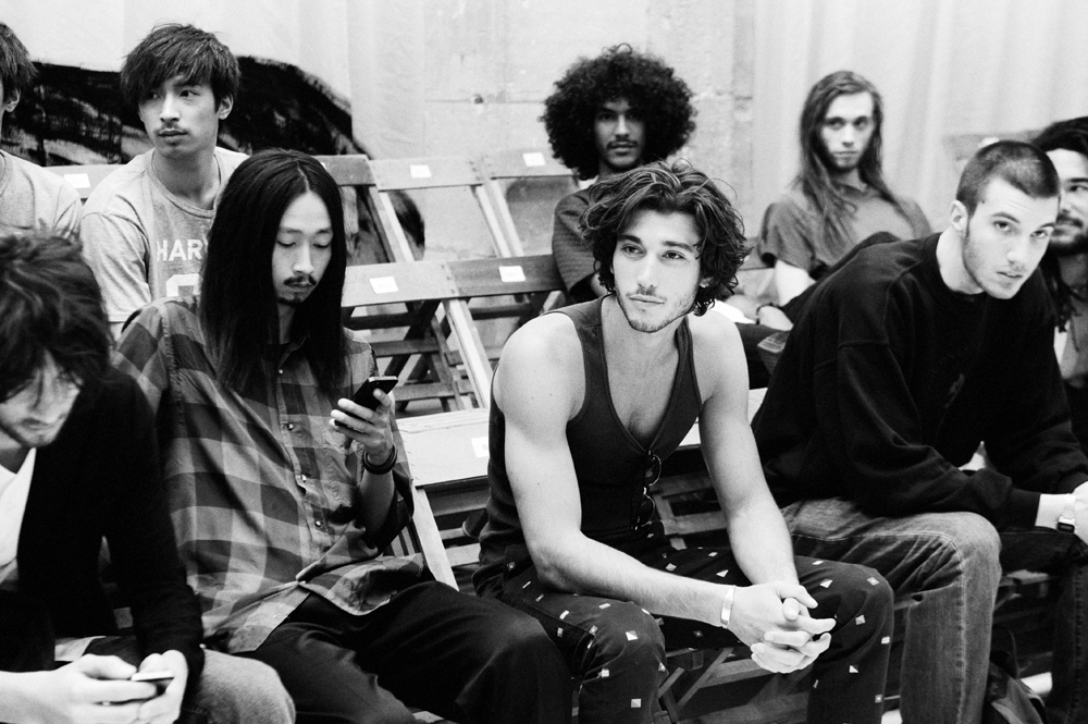 yohji yamamoto spring/summer 2015 backstage models shohei yamashita yuto lou gaillot yassine rahal theo derville nicolas le strat photography by elise toide | S/TUDIO