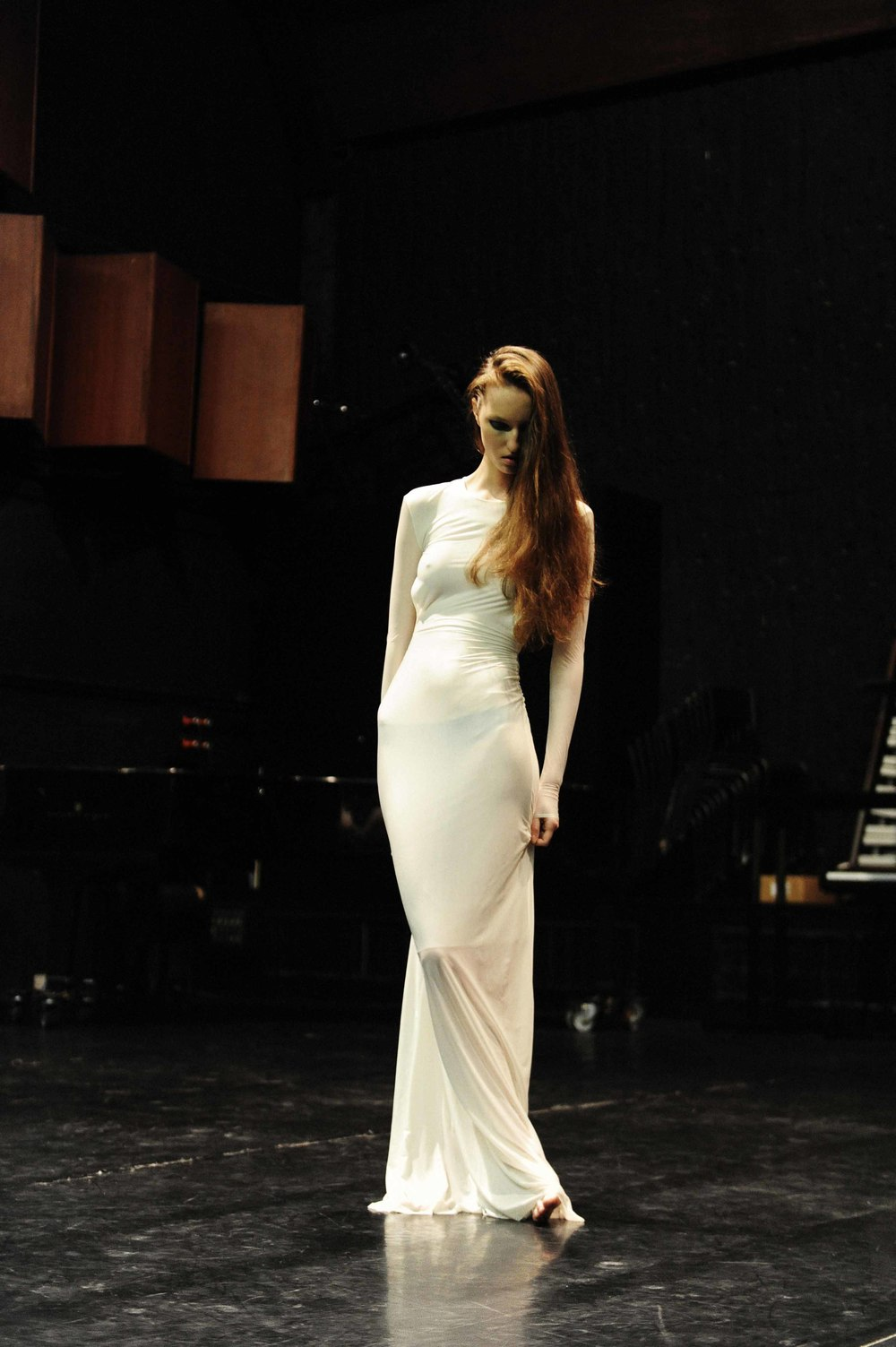 white transparent dress Y/Project