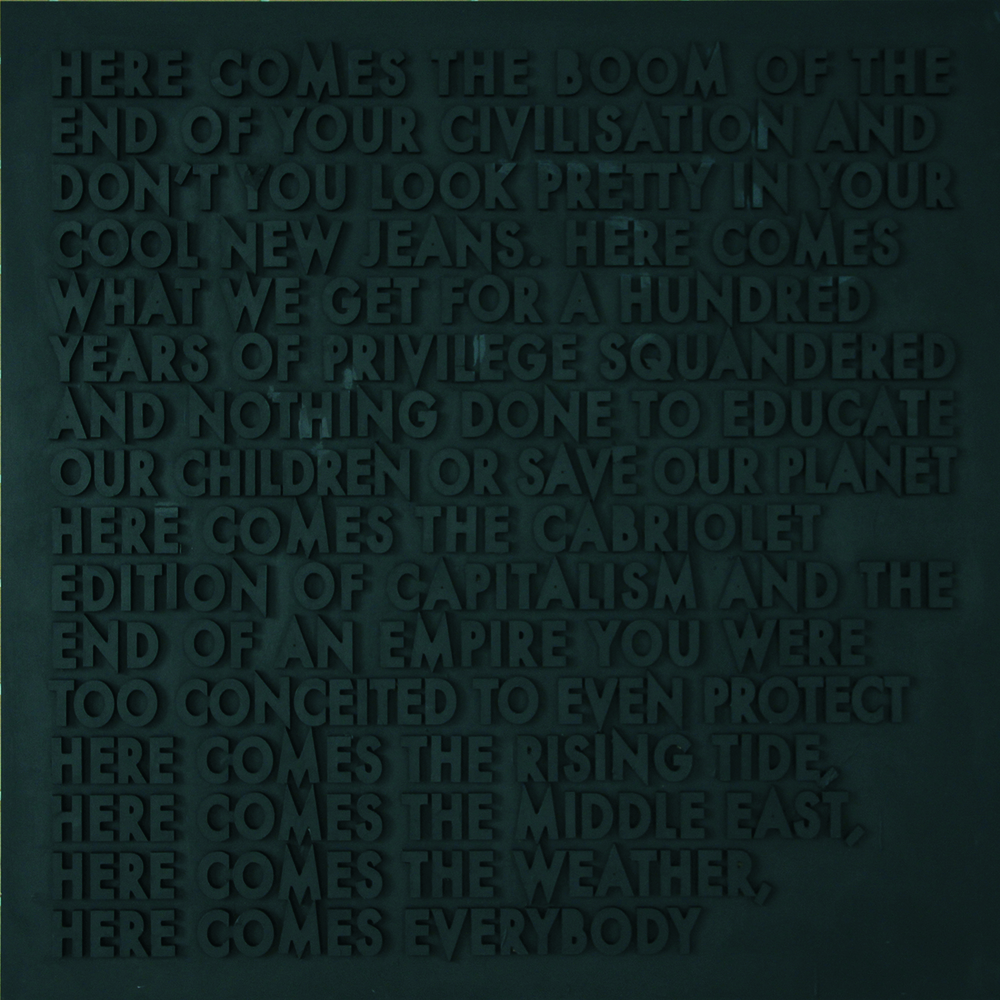 here comes the boom, 2012 by robert montgomery