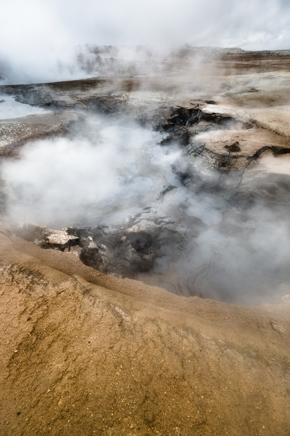 geothermal boiling mudfields, akureyri iceland photography by david jensen