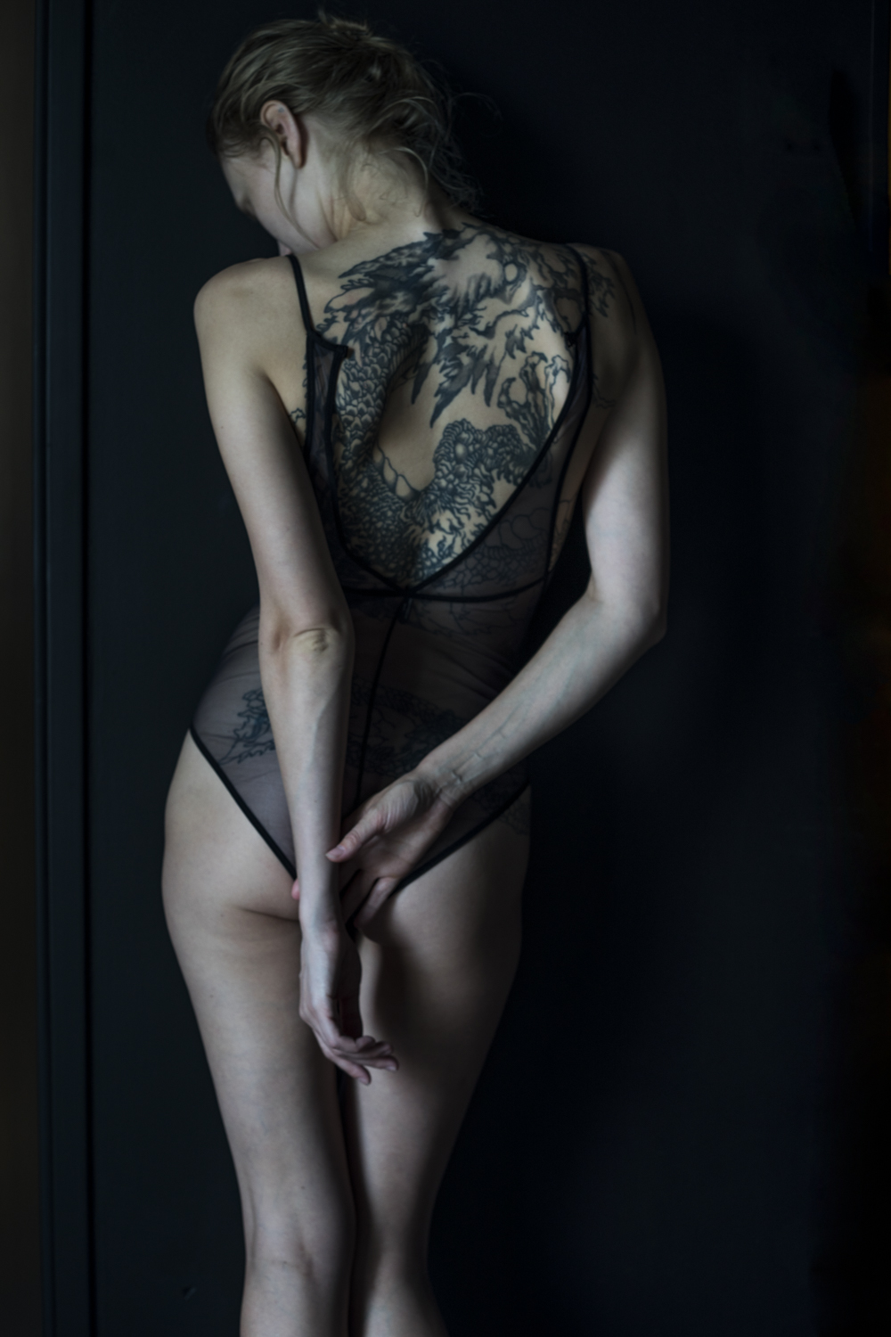 a dark room [part II] featuring la fille d'o lingerie photography S/TUDIO