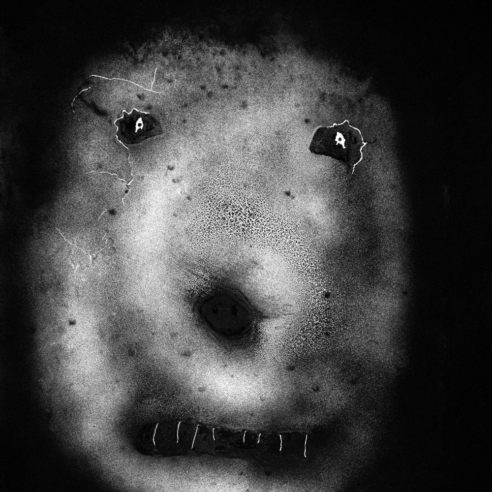 Spikey, 2007.  From the upcoming book ''The Theatre of Apparitions''   © Roger Ballen
