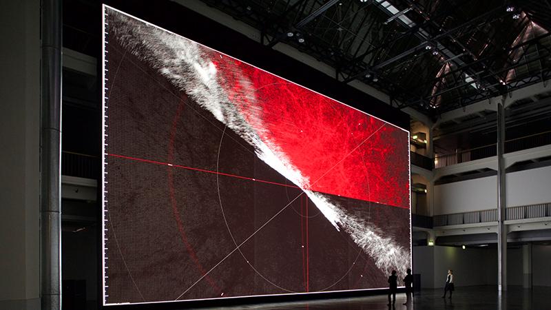 Ryoji Ikeda, the planck universe [macro] 2015. Martin Wagenhan ©ZKM | Karlsruhe