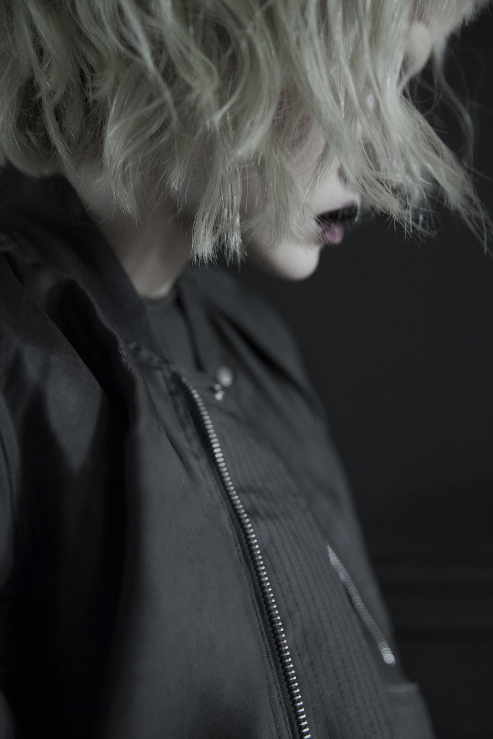 sheer swoop flight bomber jacket and dress Rick Owens