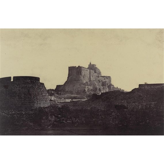 Captain Linnaeus Tripe - Trichinopoly Rock from the West 1858 - Robert Hershkowitz Ltd