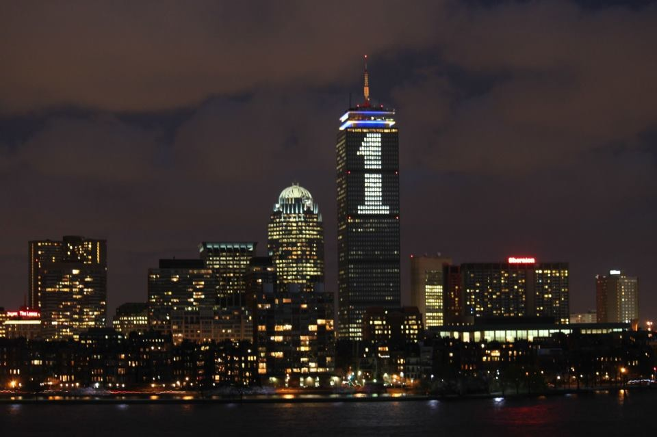 Boston Marathon 2013 |  Prudential tower lit in support of The One Fund