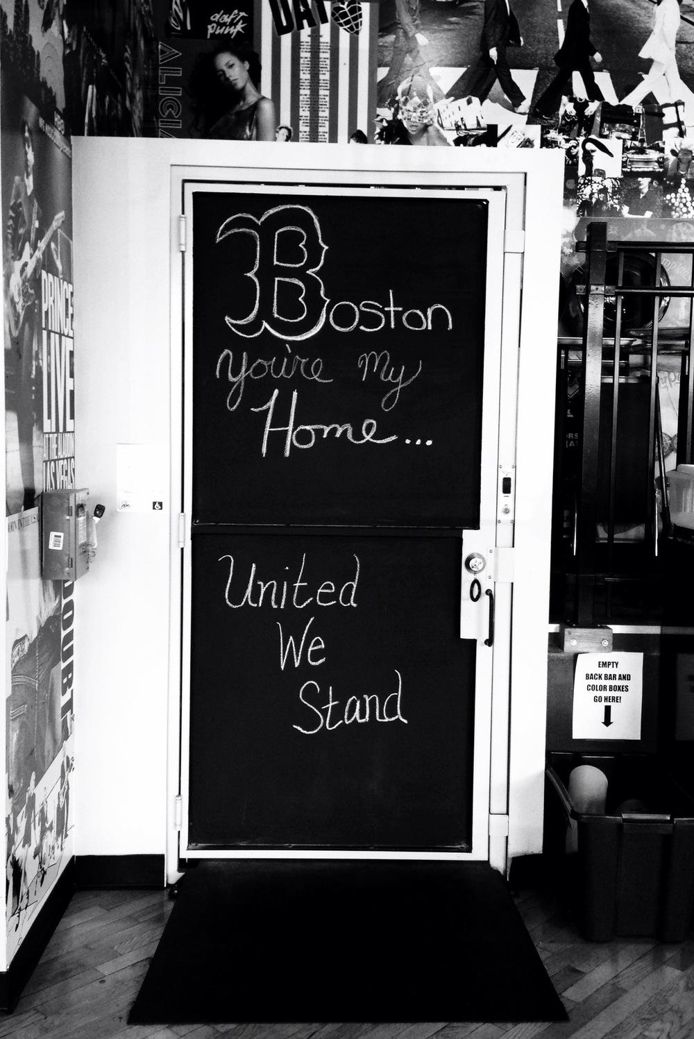 Boston Marathon 2013 |  Floyd's, local barber shop show of solidarity