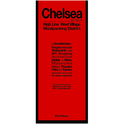 NYC Chelsea Greenwich Village and High Line Red Map — Going In Style on
