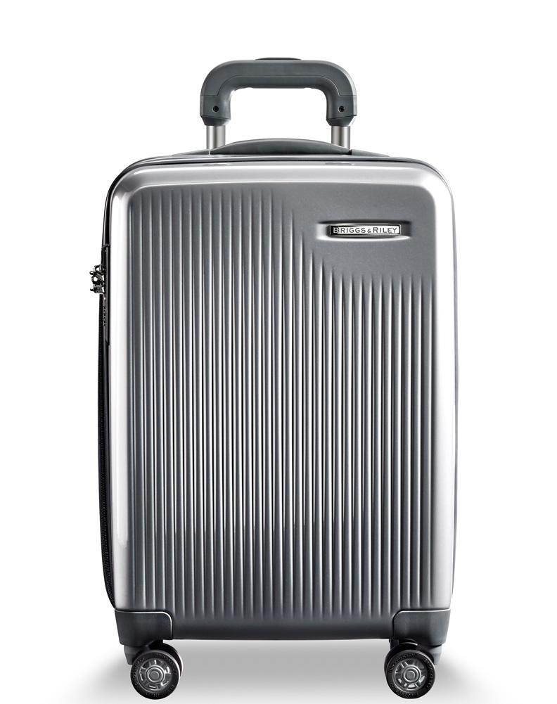 Briggs & Riley Silver International Carry-On Expandable Spinner