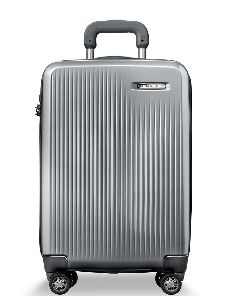 Briggs & Riley Silver Domestic Carry-On Expandable Spinner