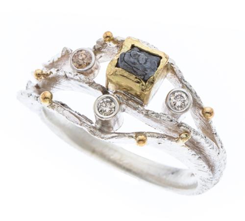 White Rami Ring