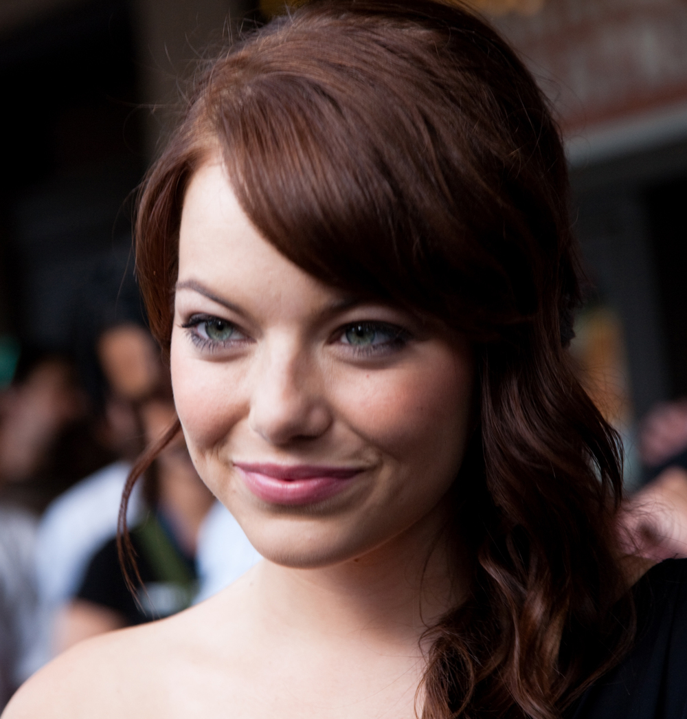 Emma Stone suffers frequent breakouts, but a good skincare routine and expert makeup means we'd never know!  Image credit: Steve Rogers