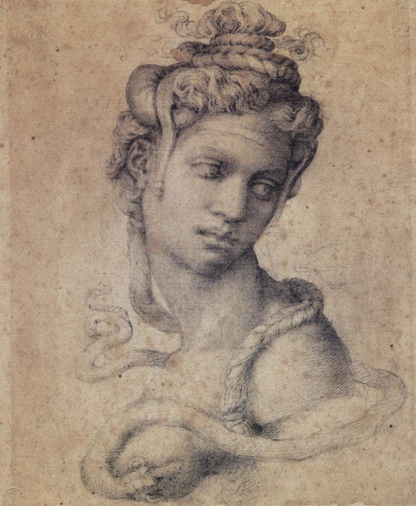 Cleopatra's beauty was legendary.  Drawing by Michelangelo