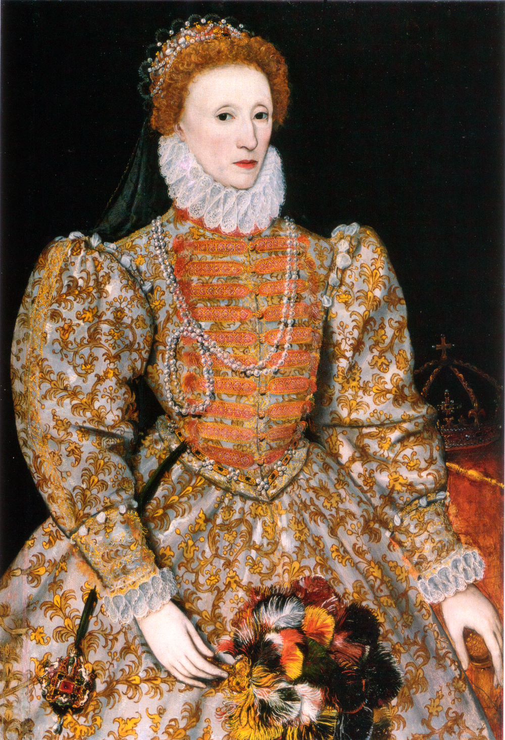 The Darnley Portrait of Queen Elizabeth I, showing her fashionable fair skin.