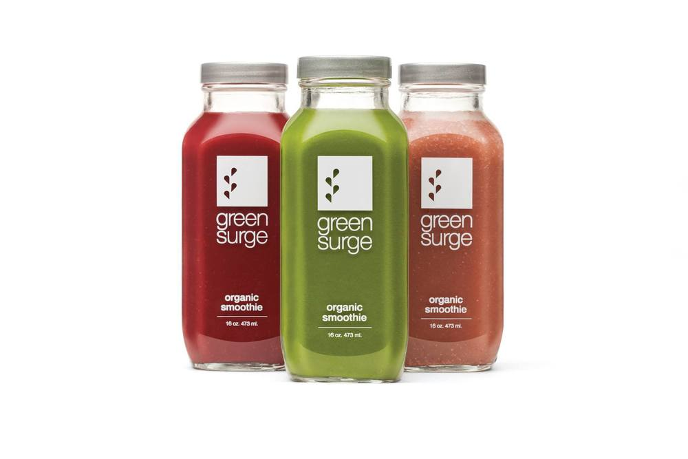 GreenSurge juices are available to buy directly at BellaPelle.