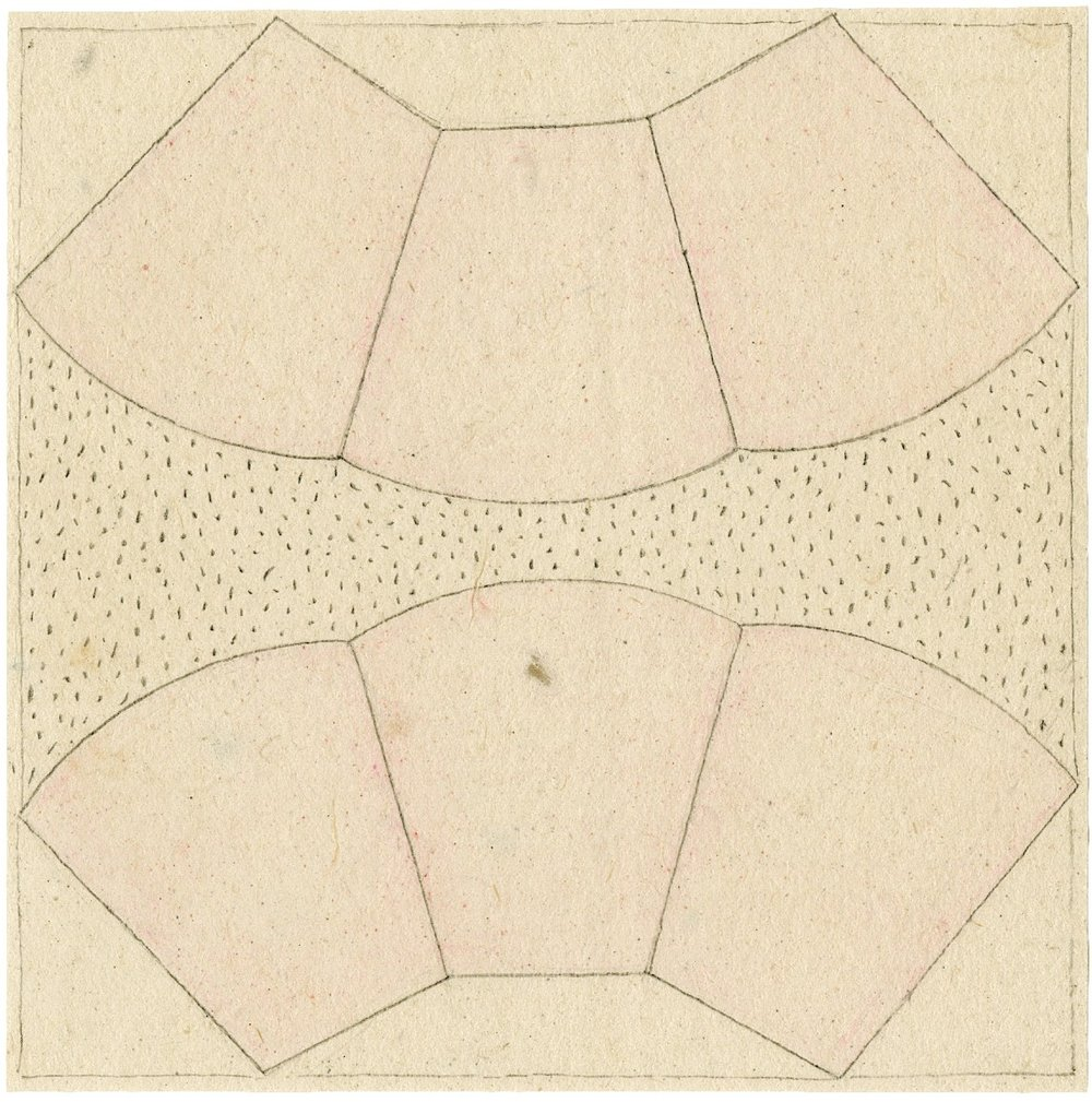 Lynne Woods Turner, Untitled. Pencil and colored pencil on paper. Approximately 3″ x 3″. 2013.