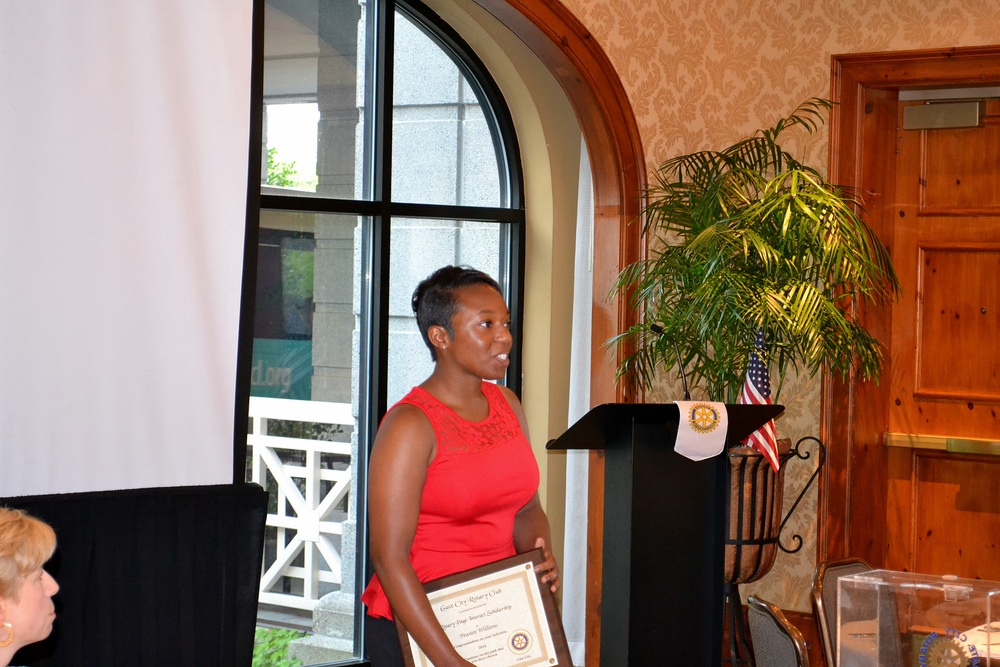 Scholarship recipient, Treasure Williams