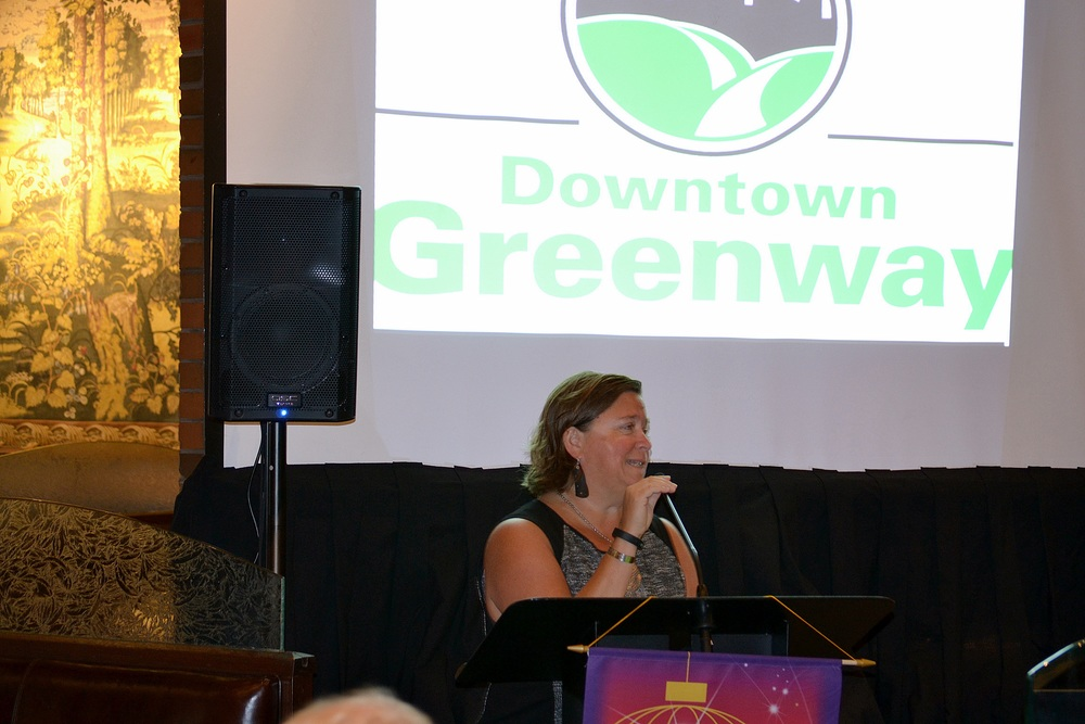 Dabney Sanders talks about he Downtown Greenway