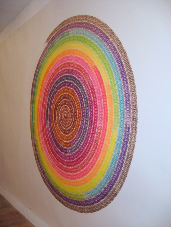Spiral Tryptich, 3570 Minutes - detail