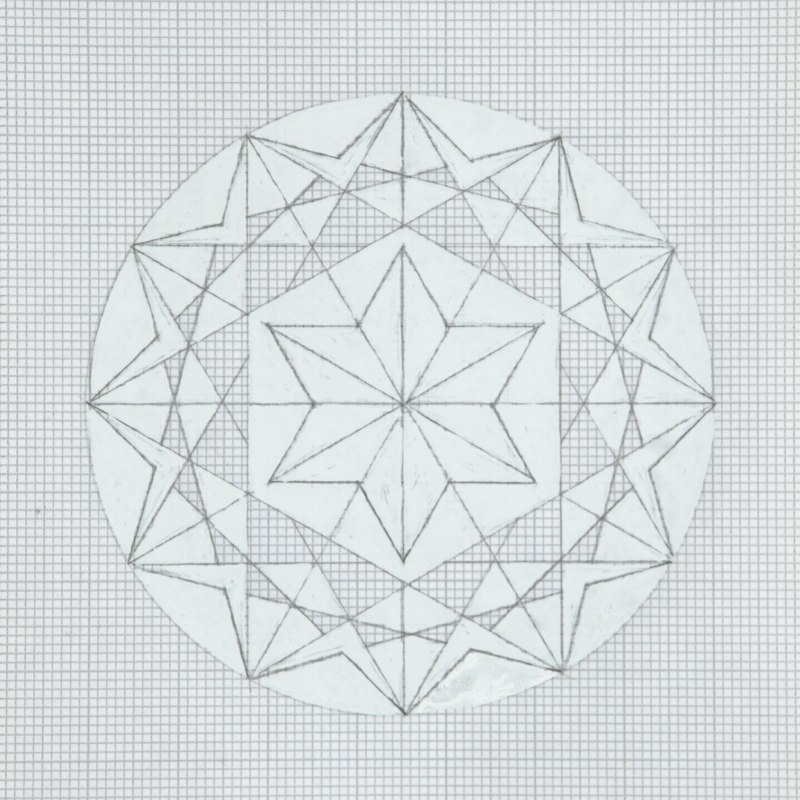 Graph paper drawing