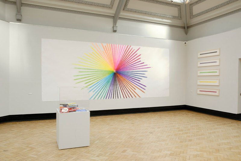 Assorted Colour Inks, 3377 Minutes and Stripes - installation